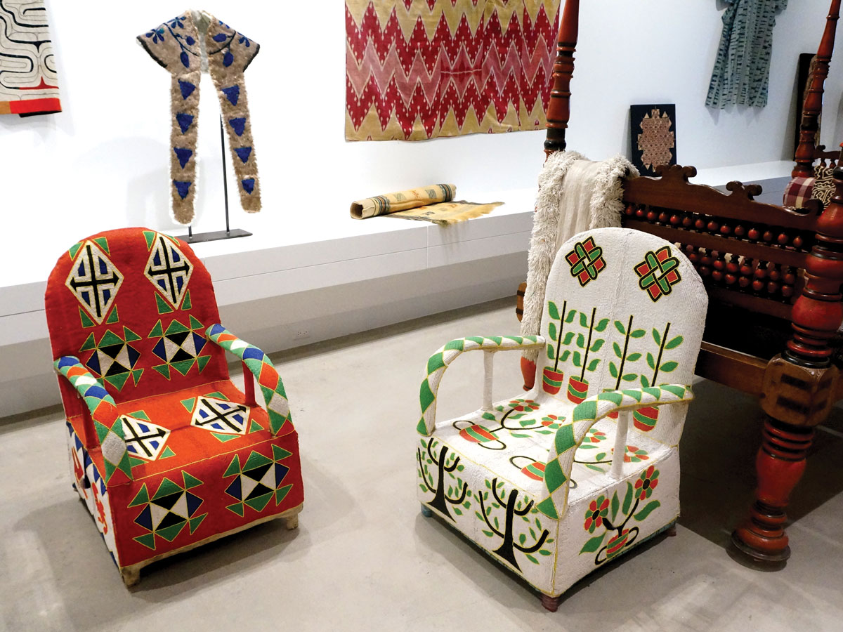 Superbe Two Beaded Chairs From Nigeria In The Gallery Like Shop. Image Courtesy Of  Sarajo